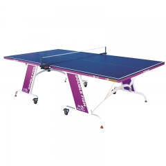 Single Folding Centerfold Table Tennis Table with Wheels for Entertainment